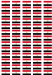 Egypt Flag Stickers - 65 per sheet